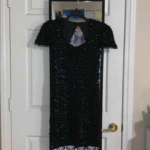 Black Sequined Cocktail dress